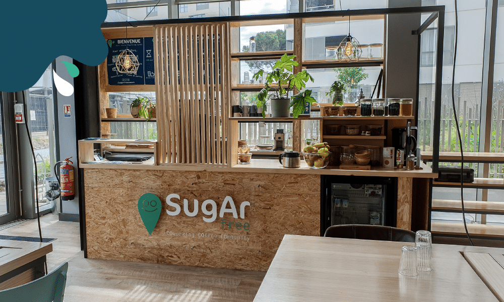 Sugar free coworking café bar in Bordeaux